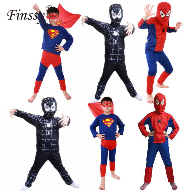 Disfraz de Spiderman rojo niños Cosplay Batman negro Spider Man disfraz de Halloween  para niños carnaval 7438cd09dc58