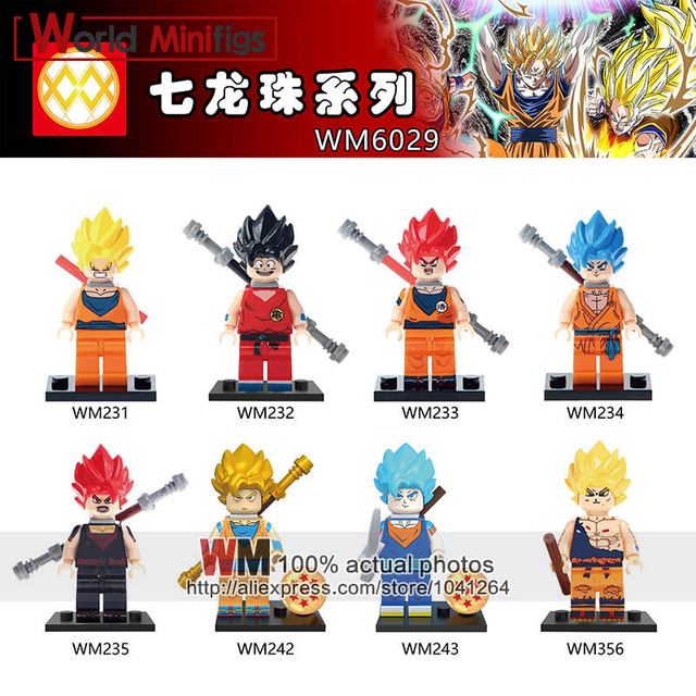 Us 420 Tmgt 10lots Japanese Cartoon Dragon Ball Z Son Goku Vegeta Super Saiyan Vegito Sailor Moon Children Building Blocks Brick Toys In Blocks