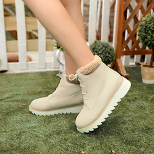 หญิงฤดูหนาว2014ใหม่รองเท้าข้อเท้าตุ๊กตาสั้นอบอุ่นหนาเทียมหิมะรองเท้าแฟชั่นผู้หญิงบวกขนาด34-47 XY092
