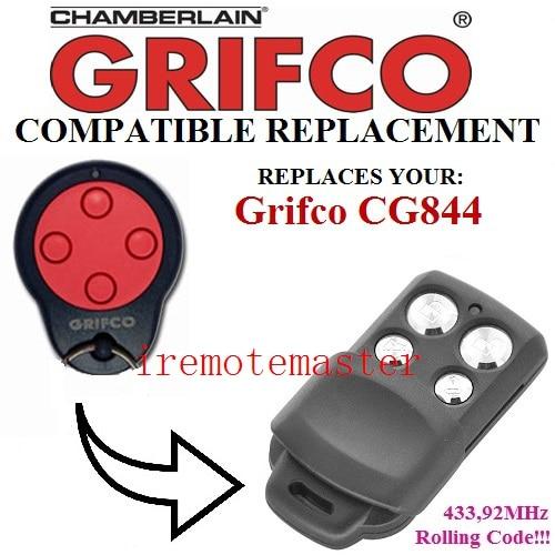 For Grifco CG844 replacement remote garage door opener/transmitter Rolling code 433.92mhz mini wireless remote controller receiver rolling code for garage door