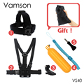 Chest Strap Floaty Bobber Monopod Head Belt Mount For Gopro Hero 5 4 3+ SJCAM Xiaomi Yi Action Camera Accessories VS40