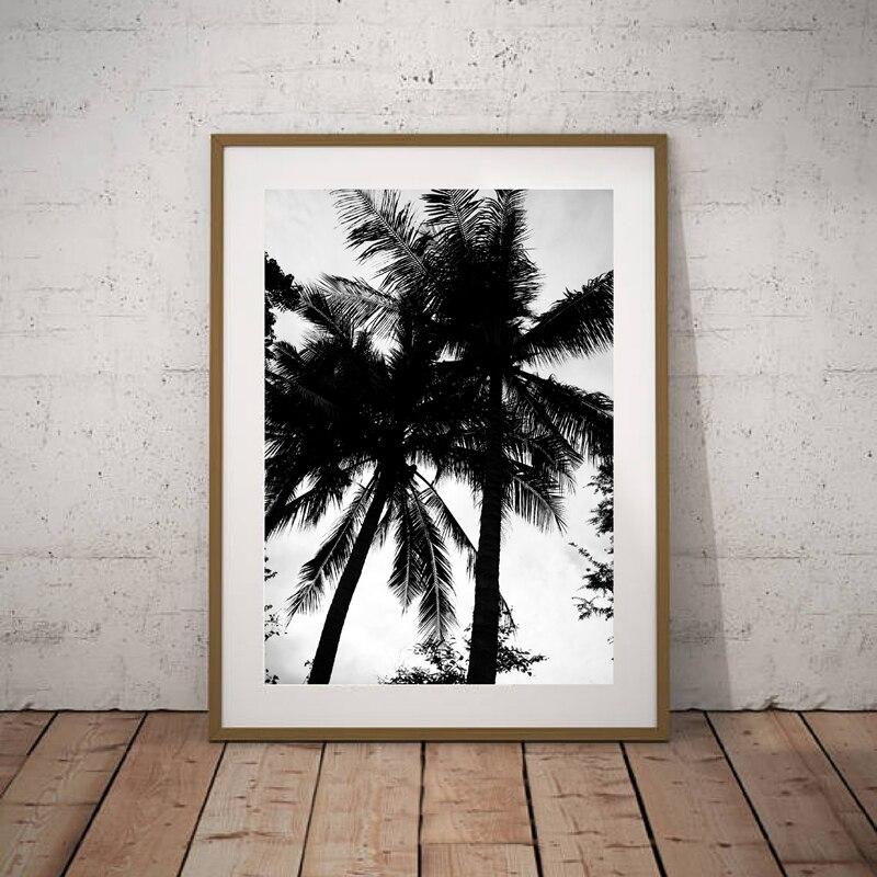Schwarz und Weiß Kokospalme Leinwand malerei Home Dekoration ...