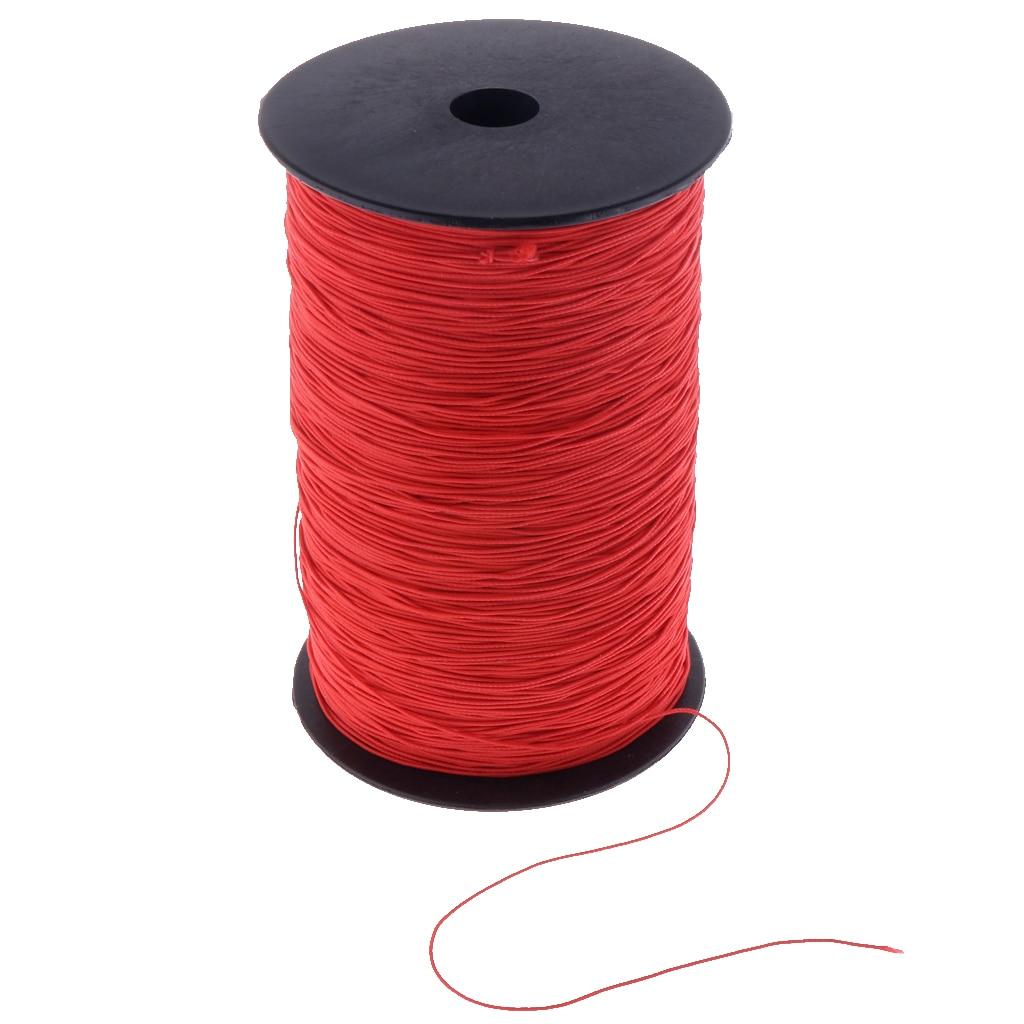 Черный/красный, 1000 метров полиэстер эластичные шнуры эластичная ткань веревка для ручной работы проектов поставки, диаметр: 0,8 мм