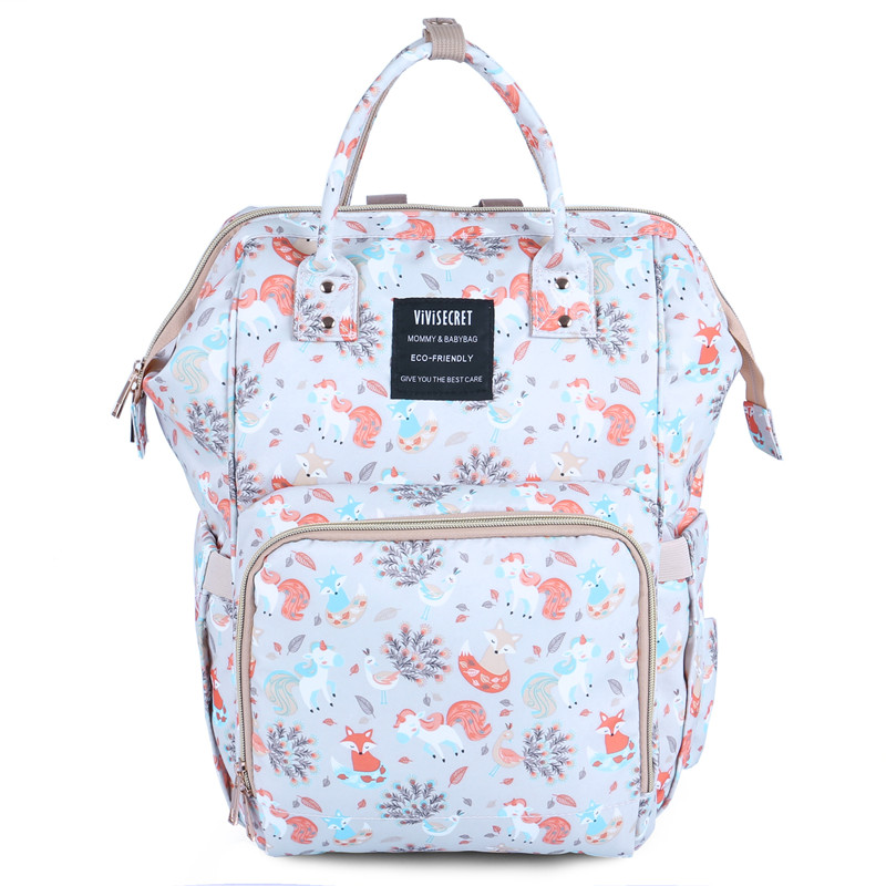 Updated New Fashion Printed Backpack Bottle Insolution Bags Unicorn Printed Mummy Bag Multi-Function Large Capacity Waterproof fashion anchor printed square new composite linen blend pillow case