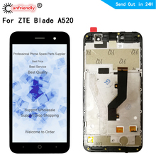 Per ZTE Lama A520 Display LCD + Touch Screen Replacment Digitizer con telaio di Montaggio Del Pannello del Telefono Per ZTE A520 UN 520 display