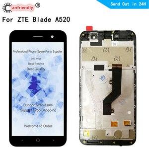 Image 1 - ل ZTE شفرة A520 شاشة الكريستال السائل + اللمس استبدال الشاشة محول الأرقام مع الجمعية الإطار الهاتف لوحة ل ZTE A520 520 عرض