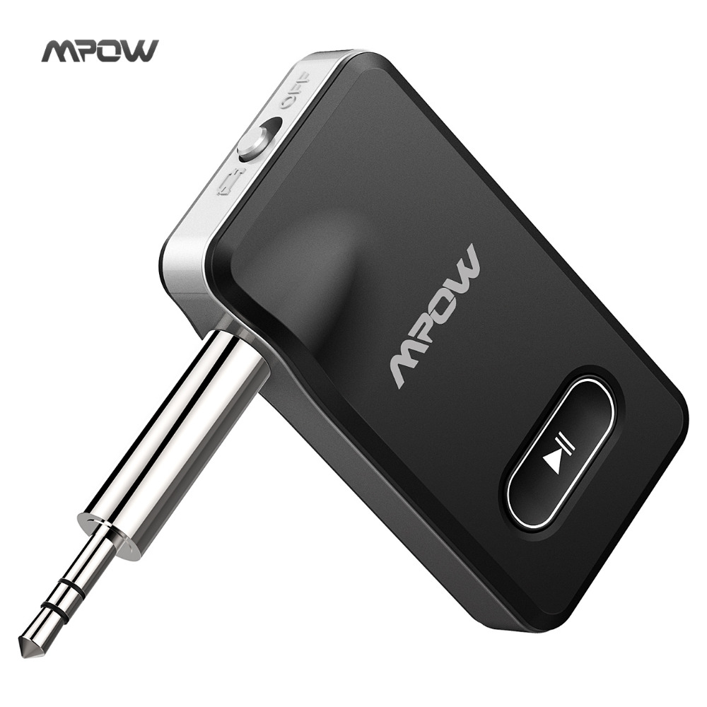 Mpow Bluetooth 4.1 Receiver 2 in 1 Car Audio Adapter Hands-free Car Locator Car Kits Music Adapter for car&speaker&headset bc07 vehicle bluetooth audio receiver hands free adapter black