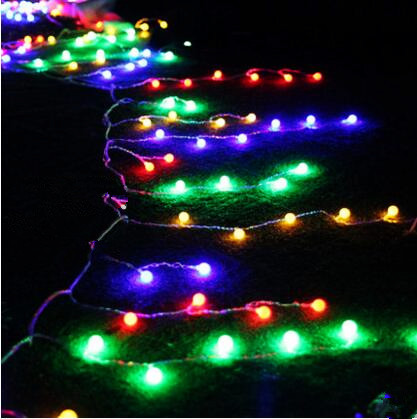 ФОТО New Year 8X0.5M LED Cutton Ball String Lights Navidad Garland LED Christmas Lights Outdoor Cristmas Decoration Luces De Navidad