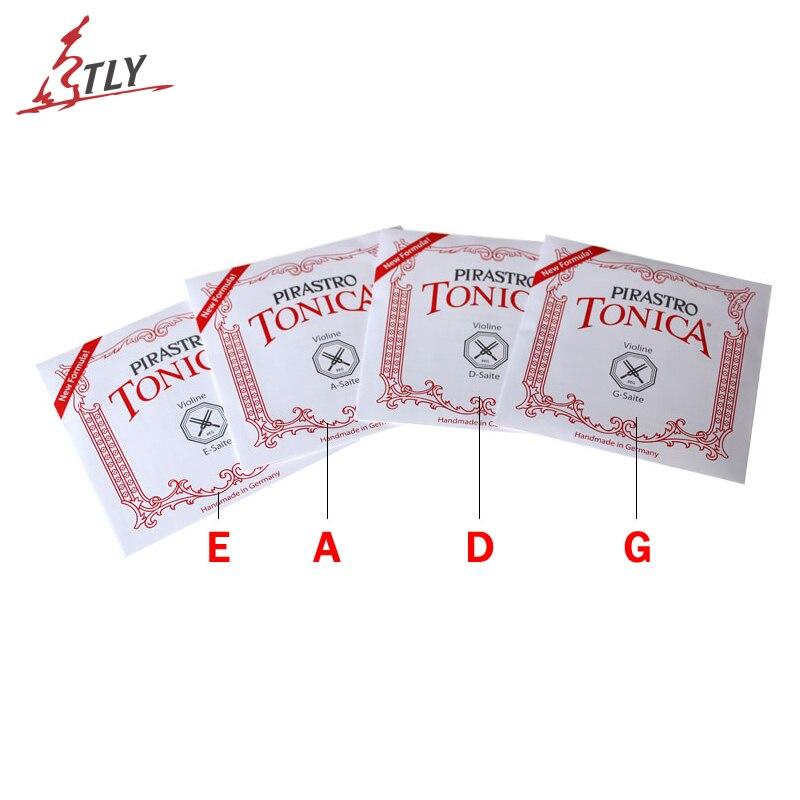 5 Sets Pirastro Tonica Nylon Violin Strings 4 Pcs/set A, E, G, D Full Size 4/4 3/4