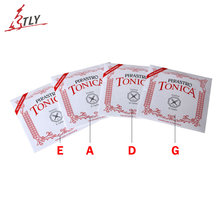 5 Sets Pirastro Tonica Nylon Violin Strings 4 pcs/set a, e, g, d Full Size 4/4 3/4(China)