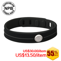 J101 Noproblem Power Energy Hologram Bracelets Wristbands Keep Balance Ion Magnetic Therapy Fashion Silicone Bands Free
