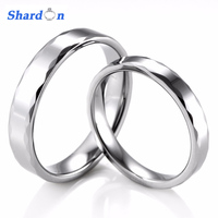 3 4mm Couple S Tungsten High Polishing Faced Cut Brilliant Rings Little Finger Engagement Promise Band