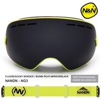 Nandn Brand Sport Professional Ski GoggleS Eyewear Anti Fog UV400 Ski Glasses Points Mask Skiing Snowboard