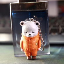 One Piece PVC Anime Figure pirates regiment of hearts apology Xiong Beibo bear hands do key chain model Gift Toys