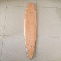 Wholesale 3pcs OEM Blank Skateboard Deck Maple 46 Longboard Flat Plate Deck DIY Patterns Decks
