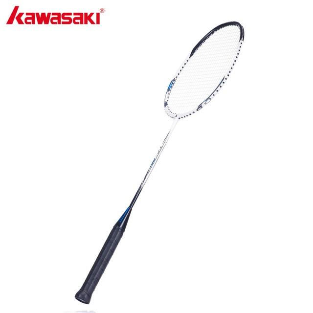 KAWASAKI Brand 1U Badminton Racket for Beginners Aluminum Frame Graphite Rod Racquet Sports Fitness Equipment KC-081
