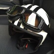 latest retro universal folding leather goggles vintage motorcycle jet pilot sunglasses