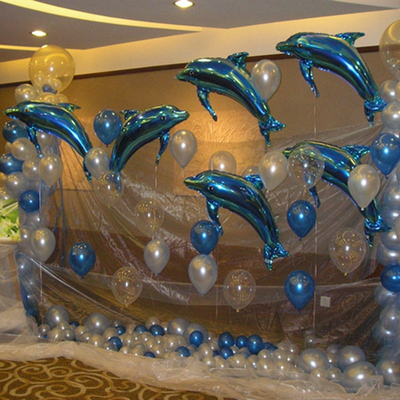1pc 24 inch Large Cartoon Dolphin Balloon Kids Toys Gift Wedding Birthday Children Sea Theme Party Decoration Ocean Balloon baby toys