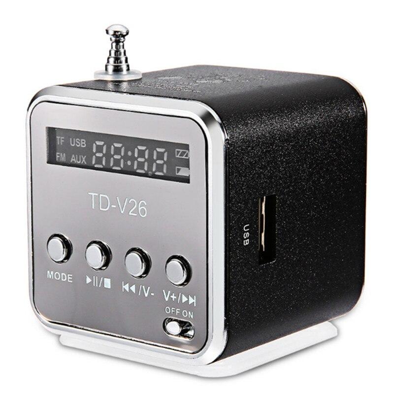 Portable Mini Outdoor Sports TD V26 Speaker Digital LCD Support SD TF FM Radio Music Stereo