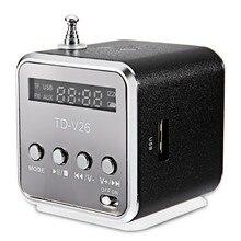 Portable Mini Outdoor Sports TD-V26 Speaker Digital LCD Support SD/TF FM Radio Music Stereo Loudspeaker TF Card Music Player