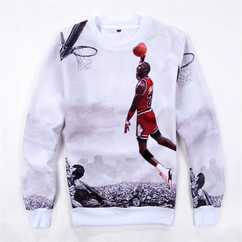Springautumn Menwomens 3d Pullover Hoodie Jordan Dunk Basketball