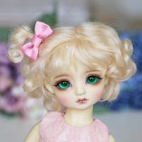 1 6 BJD WIG YOSD Doll Wig 5 Color Mohair Curly Pigtails