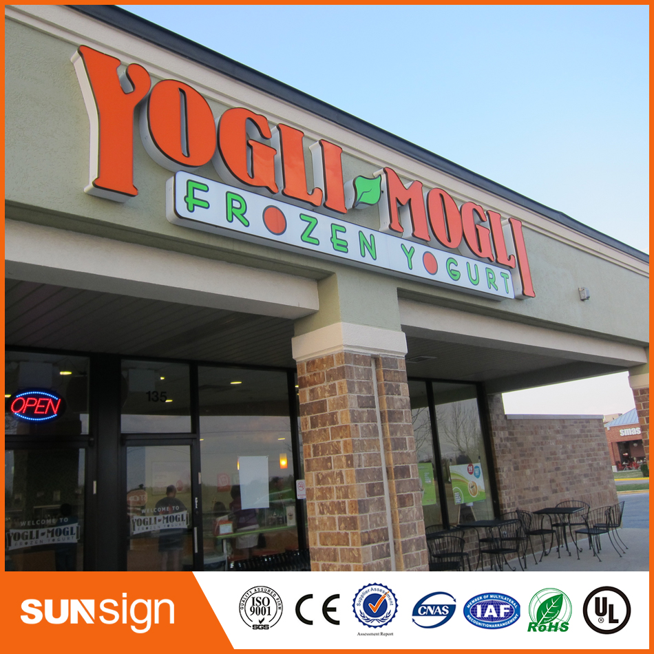 Manufacturer Custom LED Logo Store Front Lighting Signs