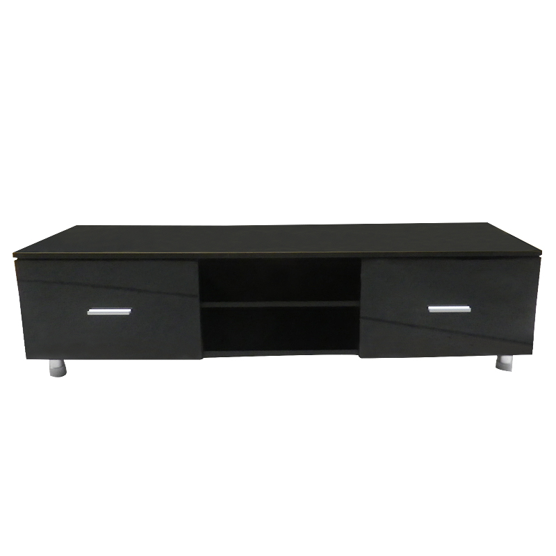 Shellhard Modern TV Cabinet High Gloss TV Stand Entertainment Unit Furniture Part A+B For Home Decoration Black