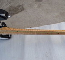 new Big John single wave electric guitar in sunburst with elm body and tiger stripes maple neck F-1122