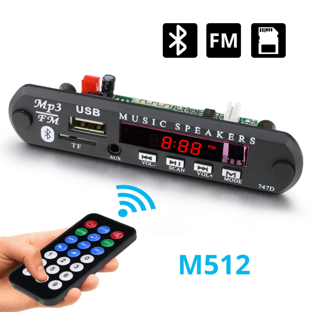 MP3 Audio Decoder Board 5V 12V Wireless Bluetooth MP3 Decoder Board Audio Module USB TF Radio MP3 Decoder For Car Accessories