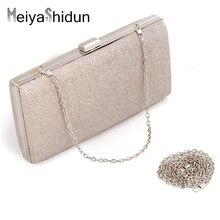 MeiyaShidun NEUE Europäische Mode Frauen Handtasche Samt Schulter-kette Abendtaschen Mix Farbe Umhängetasche Hartem Fall Handtasche Tasche