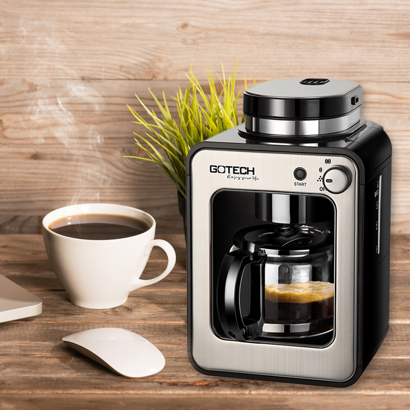 CM6686A New Fully Automatic Household Coffee Maker with Upper Coffee Bean Grinder Coffee Making Machine Cafe American household fully automatic coffee maker cup portable mini burr coffee makers cup usb rechargeable capsule coffee machine