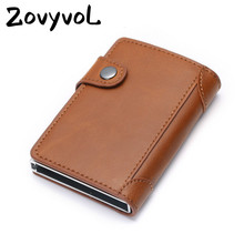ZOVYVOL 2019 New  RFID Blocking Men and Women Card Case  Card Holder Carbon Fiber PU Leather Coin WalletTravel Drop-shipping
