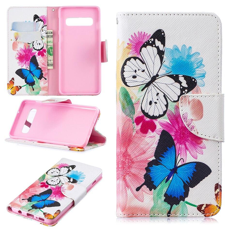 Card Slot Wallet Flip Case For Samsung Galaxy S10 E S9 S8 Plus S7 S6 Edge S5 S4 S3 J4 J6 A6 A7 A8 2018 A530 A750 Cover L116Z