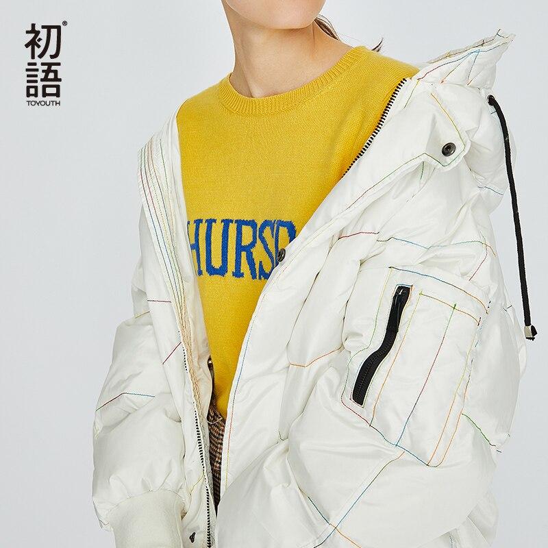 Toyouth D'hiver Vers Le Bas Long Manteau femmes Manteaux Chauds Épaississement Outwear Dames Puffer Manteau Mujer À Capuchon Vers Le Bas Manteaux Rose Outwear 2018