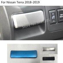 Крышка автомобиля нержавеющая сталь перчатки ёмкость для хранения Кубок box отделкой основной драйвер Ручка панель 1 шт. для Nissan Terra 2018 2019