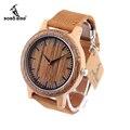 Bobo bird m14 projeto original de madeira do vintage relógio para homens com pulseira de couro genuíno com caixa de presente