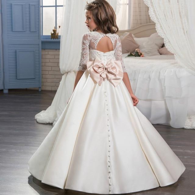 Wedding Ideas For Kids: Eleghant Wedding Dress Infant Sleeve Long Children Kids