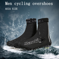 SANTIC Sport Shoe Cover rain shoes cover Mountain Road Bike Riding Protection Boots Covers Reflective bicycle Cycling Overshoes