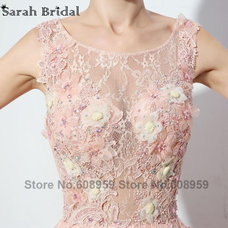 6b472346be Abendkleider koronki suknia balowa długie suknie wieczorowe prawdziwe  zdjęcie kryształ ręcznie robione kwiaty Party suknia Robe De Soiree LSX069  w ...