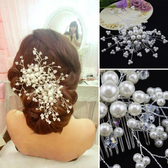 HTB1S9buJpXXXXXyaXXXq6xXFXXXI Exquisite Bridal Wedding Faux Pearl Hair Comb Accessory