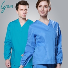 Top Grade Spring & Autumn Unisex Men's Medical Uniforms Long Sleeve Scrub Sets Female Washing Clothes Women Suits Top+Pant Set