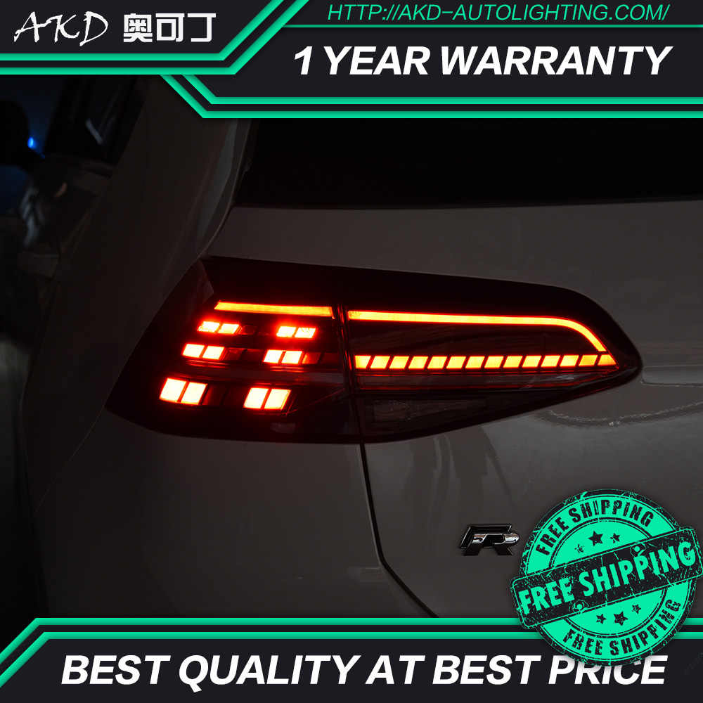 AKD tuning cars Tail lights For VW Golf 7 Golf MK7 Golf 7 5 Taillights LED  DRL Running lights Fog lights angel eyes Rear parking