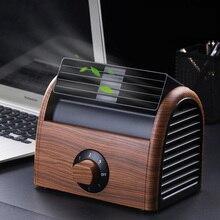 Новейший кожаный вентилятор, кондиционер, холодный ветер, настольный электрический портативный бесшумный вентилятор для дома, спальни, офиса