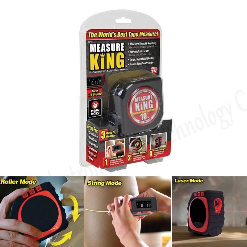 Gut 1 StÜck Präzise Messen König 3-in-1 Digitale Maßband String Modus Sonic Modus & Roller Modus Universal 3 In 1 Messwerkzeuge König