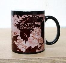Envío de la gota de la Nueva Llegada Del Juego De Tronos tazas de Invierno es venir taza Mágica que cambia de color café taza de Té taza de café taza