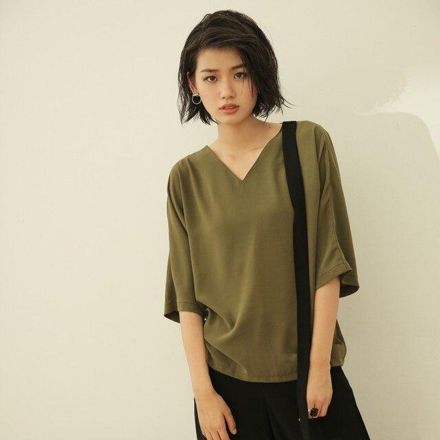 e12d9c9cd1 Free shipping 2016 new high quality clothing winter women t shirt short  sleeve tops fashion v-neck camiseta feminina lyq055