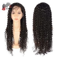 hot deal buy sunnymay spanish wave full lace human hair wigs pre plucked bleached knots brazilian virgin hair full lace wig with baby hair