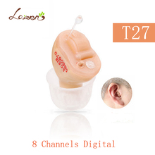 T27 лучшие продажи звучат слуховые аппараты 8 Каналы ушах Masker CIC цифровой слуховой аппарат для глухих Невидимый усилитель