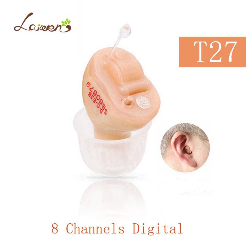T27 Meilleur Vente Resound Prothèses Auditives 8 Canaux Acouphènes Masker CIC Numérique Aide Auditive pour les Sourds Invisible Amplificateur